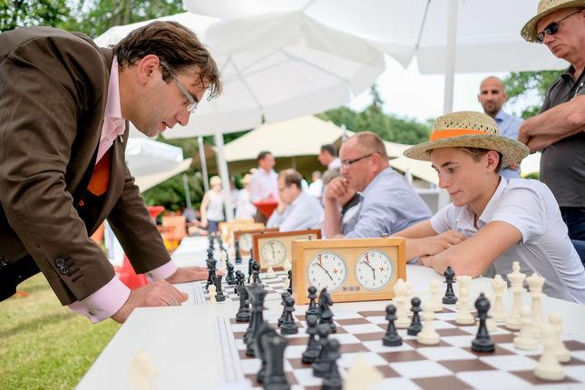 Schnellschach gegen Stratege und Gastgeber Sven Janszky